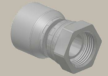 Koncovka přímá, BSP závit kuž. 60°, převl. matice, BS5200-A/DKR - 1-1/2x11