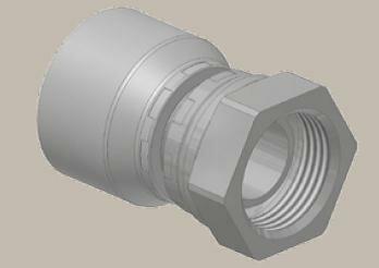 Koncovka přímá, BSP závit kuž. 60°, převl. matice, BS5200-A/DKR - 3/4x14