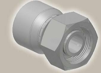 Koncovka přímá, metric. závit, ISO 12151-2-SWS-S/DKOS - M52x2