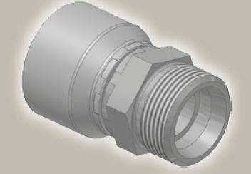 Koncovka přímá, metric. závit,  ISO12151-2-S/CES - M16x1,5