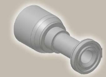 Koncovka přímá přírubová SAE, ISO 12151-3-S-S/SFS 6000 psi - 3/4