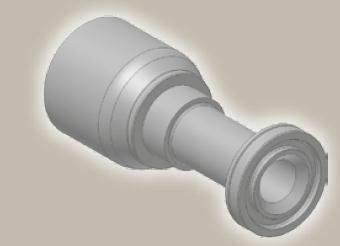 Koncovka přímá přírubová SAE, ISO12151-3-S-S/SFS 6000psi - 1