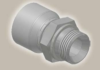 Koncovka přímá, vnější metric. závit, ISO 12151-2-S-S/CES - M20x1,5