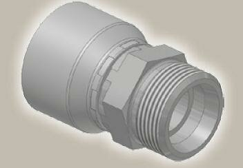 Koncovka přímá, vnější metric. závit, ISO 12151-2-S-S/CES - M36x2