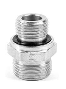 Přímé hrdlo GE-R-ED závit BSPP, těsn. ED, ISO1179, připoj. EO24° - M18x1,5/G3/4