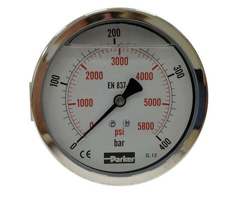 Tlakoměr pr. 100 mm, 0-100 bar, se zadním připojením - G1/2 zadní