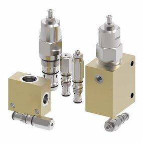 3cestný blok pro hydraulické vestavné odlehčovací ventily BXP24103-4WS377 - G 1/2