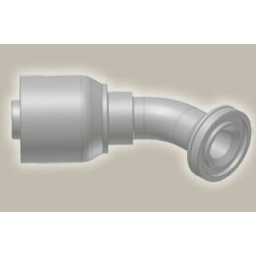 Koncovka koleno 45°,  přírubová SAE, ISO 12151-3-E45-S/SFS 45° 6000 psi - 3/4