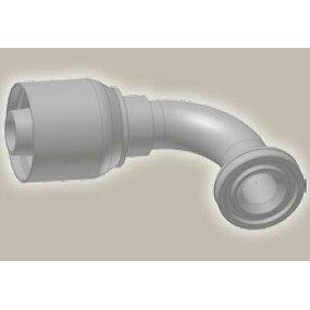 Koncovka koleno 90°,  přírubová SAE, ISO 12151-3-E90S-S/SFS 90° 6000 psi - 3/4