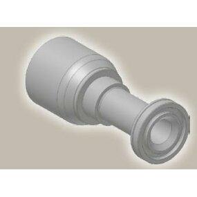 Koncovka přímá přírubová SAE, ISO 12151-3-S-S/SFS 6000 psi - 1