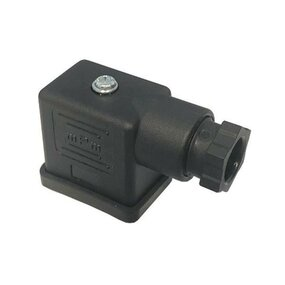 Konektor EN 175301-803 s LED a usměrňovačem, černý - PG11