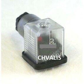 Konektor s LED signalizací a usměrňovačem  230V AC - 230V AC