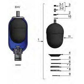 Opravná sada vakového akumulátoru EHV 4-350/90-A25DC-200 - 4l