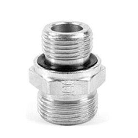 Přímé hrdlo GE-R-ED závit BSPP, těsn. ED, ISO1179, připoj. EO24°, NEREZ - M12x1,5/G1/8