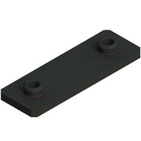 Přivařovací destička příchytky trubek série C, DIN3015 - Rozteč děr 90mm, délka 140mm